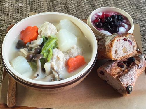 鶏団子と野菜の豆乳スープ弁当01