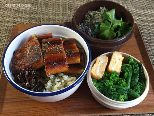 実山椒ご飯の鰻丼弁当01