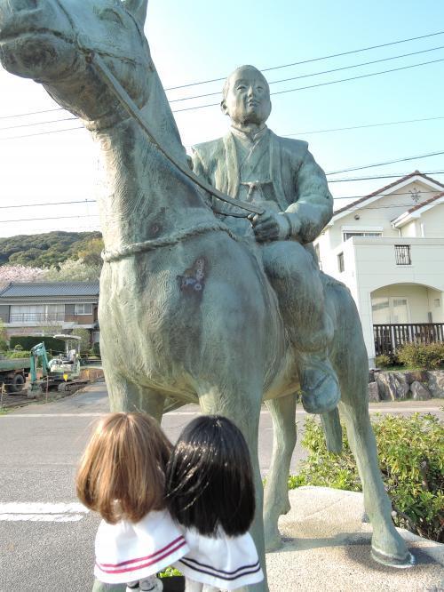 吉良町には吉良義央公の像がいっぱいでした