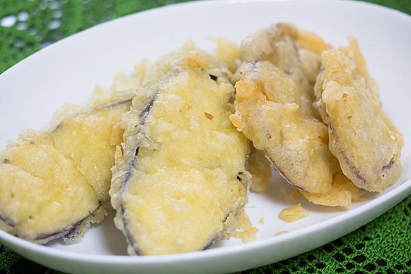 ナスとサツマイモの天ぷら