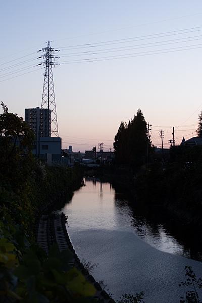 植田川夕暮れ