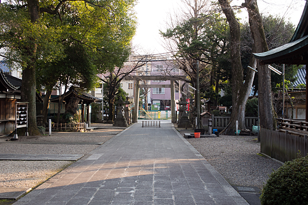 日置神社参道と境内