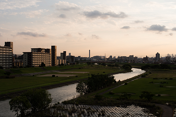 矢田川大森橋夕景