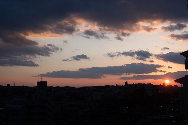 定点沈む夕陽