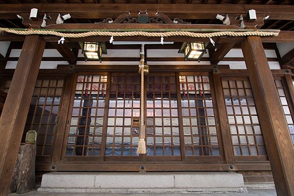 久屋金刀比羅神社拝殿正面