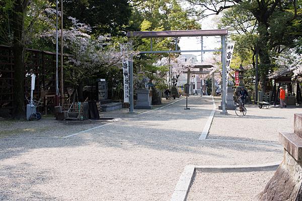 富部神社境内の風景