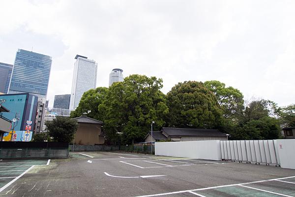 椿神明社北西側から見た風景
