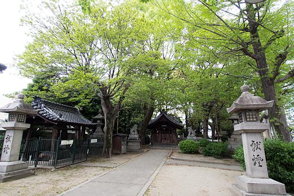 椿神明社境内の風景