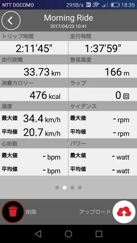 2017/04/30の走行時間