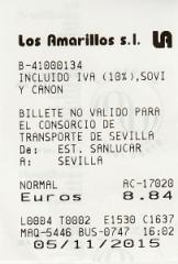 billete de Sanlucar a Sevilla