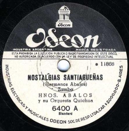 Hnos Abalos Nostalgias SP 243