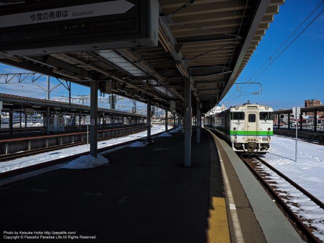 旅の始まりは函館駅(列車はキハ40)