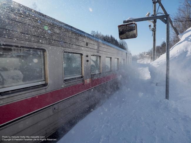 塩狩駅の通過列車