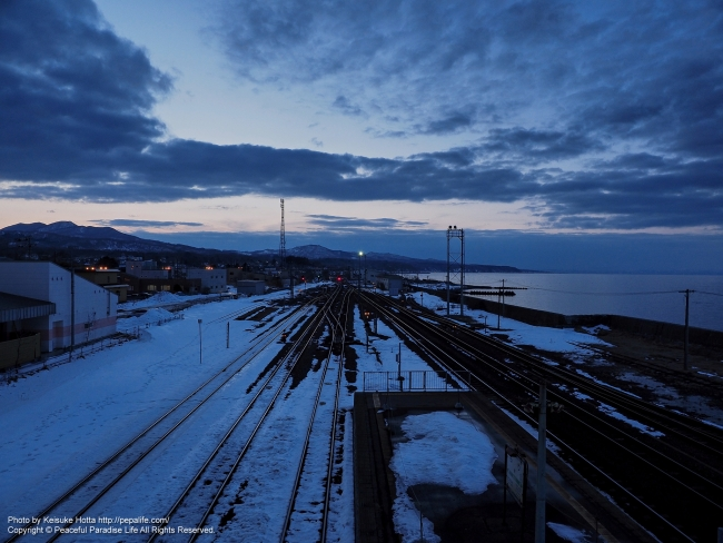 森駅の絶景(跨線橋からの眺め)