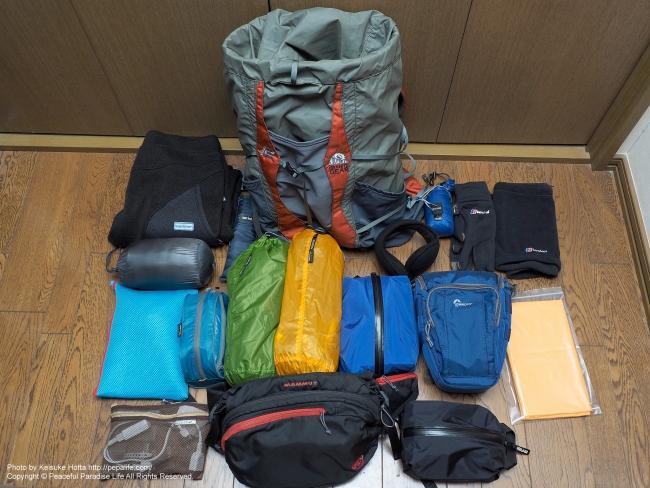 冬の北海道 鉄道&歩き旅の装備(荷物) 全部