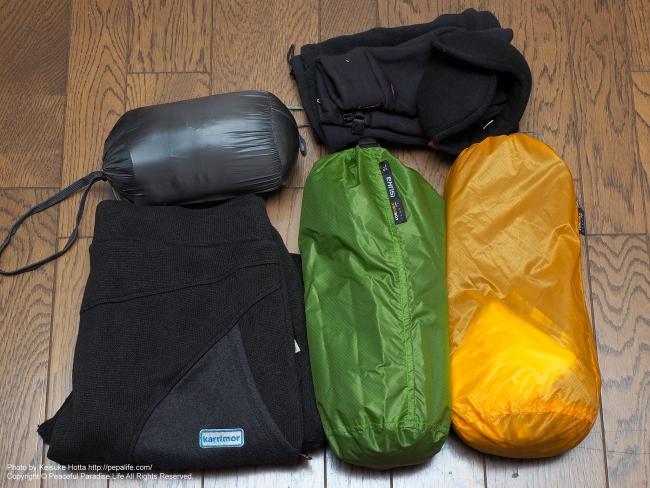 冬の北海道 鉄道&歩き旅の装備(荷物) 衣類