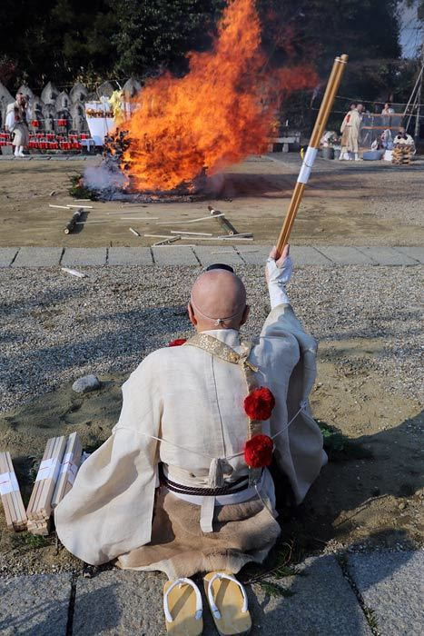 喜光寺 火渡り2