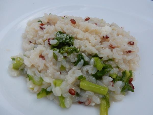 リゾットランチのシェフにお任せリゾット(雑穀米と菜の花のリゾット)
