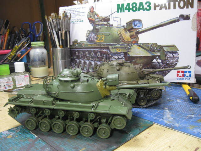 M48A3 タミヤ 塗装の2