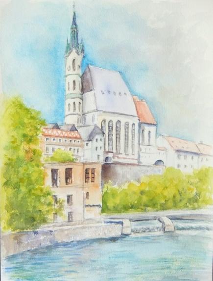 聖ヴィエート教会とブルタバ川