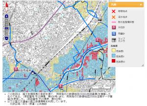 天道町洪水リスク