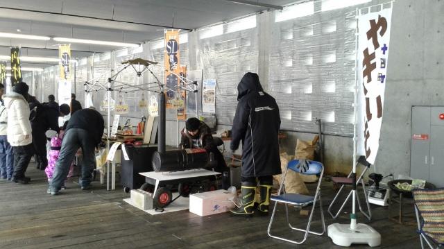 雪まつり 飯山線SL運行を応援する市民の会ブース
