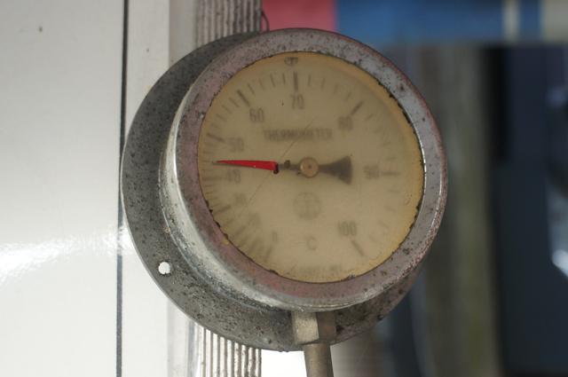 八王子塩釜温泉観音の湯 地上での温度は44度