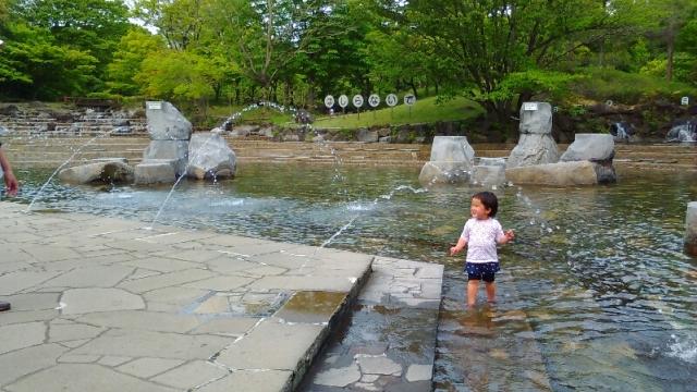 府中郷土の森 水遊びの池