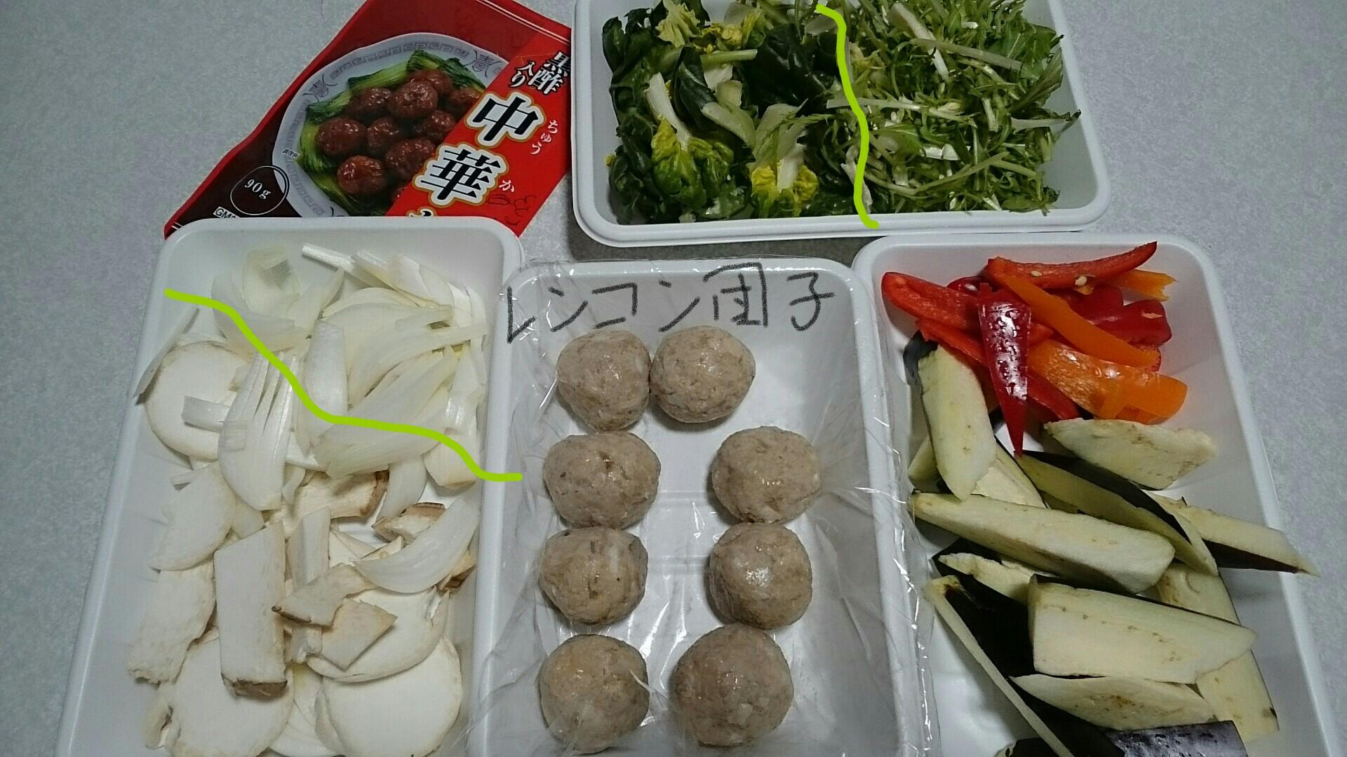 レンコン団子・鶏ミンチと材料