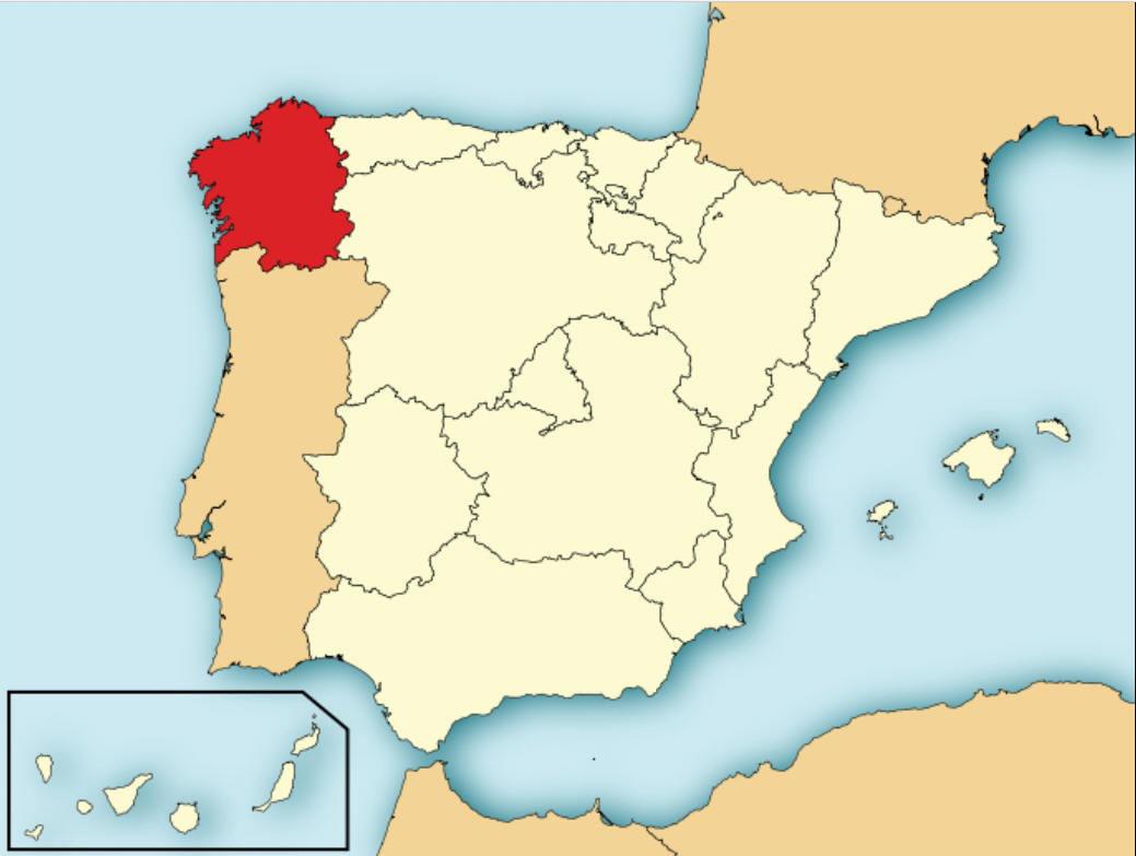 Galicia Map