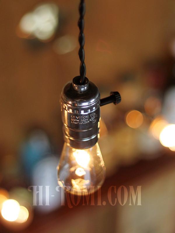 LEVITON社 アルミ製 ソケット ランプ ペンダント ライト 照明 Hi-Romi.com 神戸 ハイロミドットコム