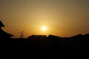 春の朝日21