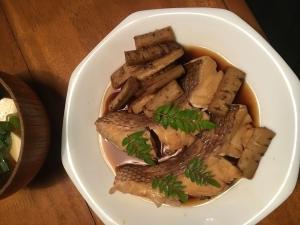 鯛の煮つけ32