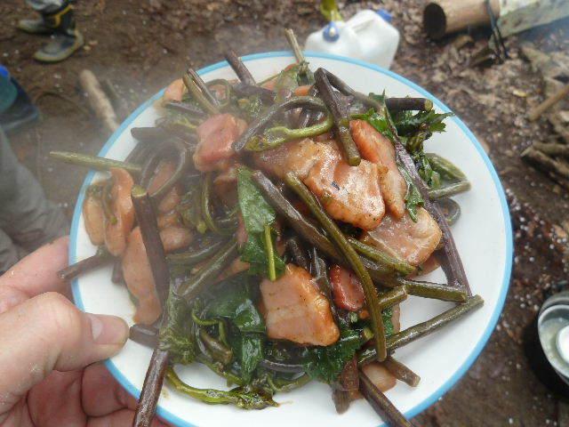 蕨の豆板醤炒め
