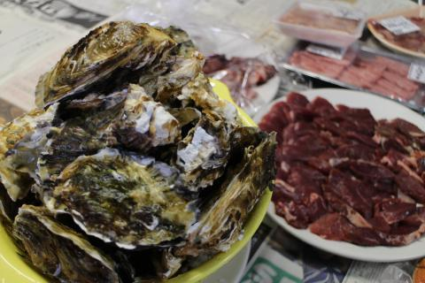 猪肉と牡蠣
