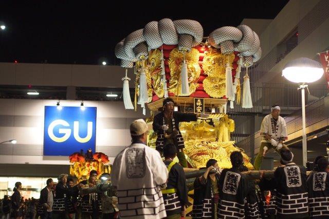 第12回 とよなか秋のまつり 今年もゆめタウン三豊に森安太鼓台の入場
