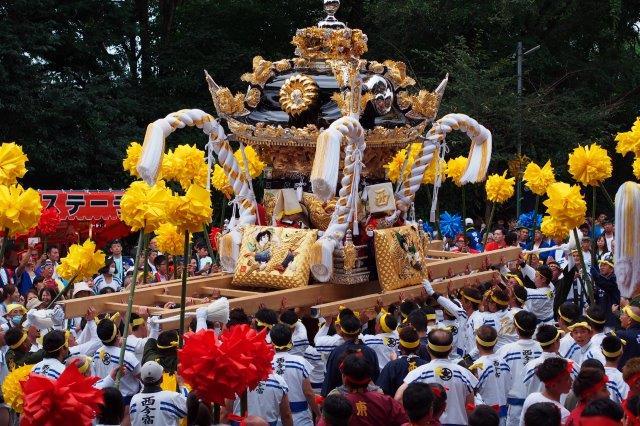 たかおか神社秋祭り 西今宿屋台の宮入