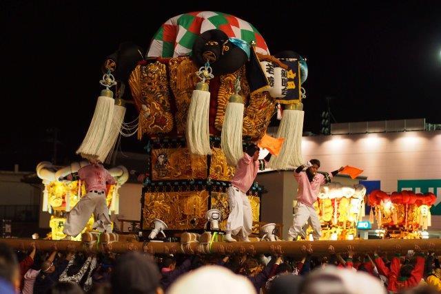 第12回 とよなか秋のまつり 今年もゆめタウン三豊に豊中町内16台の太鼓台が集結