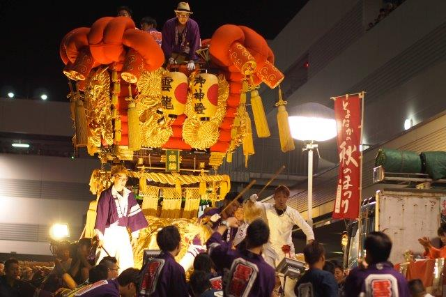 第12回 とよなか秋のまつり 今年もゆめタウン三豊に豊中町内16台の太鼓台が集結。