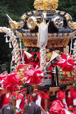 たかおか神社秋祭り 山吹屋台の宮入