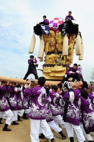 四国中央市 土居秋祭り 藤原太鼓台 2016年関川河川敷
