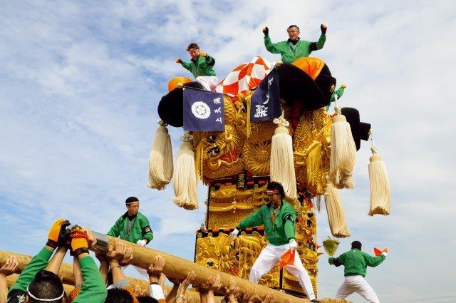 四国中央市 土居秋祭り 上天満太鼓台 2016年関川河川敷