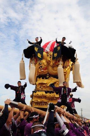 四国中央市 土居秋祭り 北野太鼓台 2016年関川河川敷