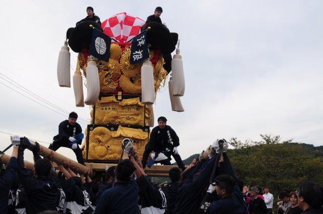 四国中央市 土居秋祭り 津根太鼓台 2016年関川河川敷