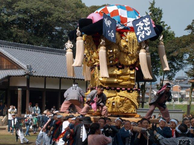 西条祭り 飯岡原八幡神社宮入り おおたに太鼓台