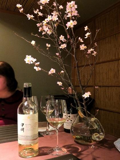 2017年3月チーズ会_桜と甲州