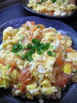 20170408トマトと卵炒め