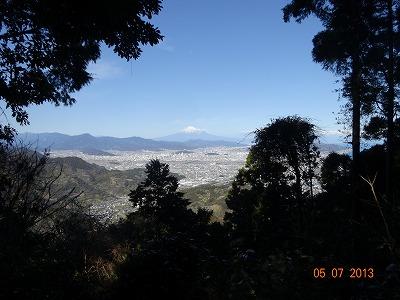 花沢山山頂からの富士山
