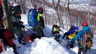 大日岳積雪期訓練012