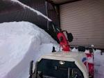 車庫前除雪
